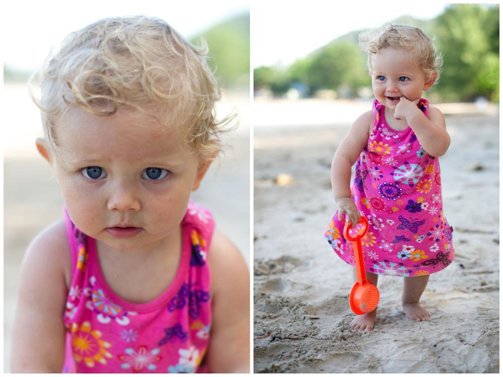Svensk fotograf i Thailand busiga porträtt på stranden med barnfotograf Erika Aminoff