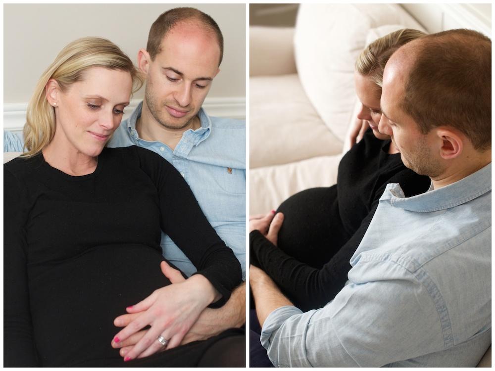 Gravidfotografering hemma hos med fotograf Erika Aminoff