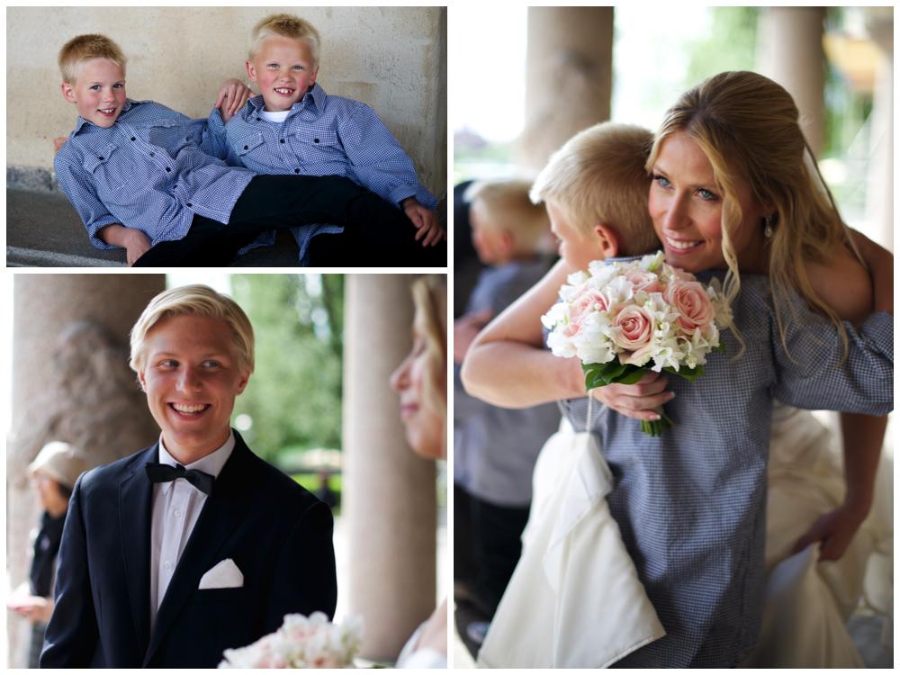 Gratulationer efter borgerlig vigsel i stadshuset av bröllopsfotograf Erika Aminoff
