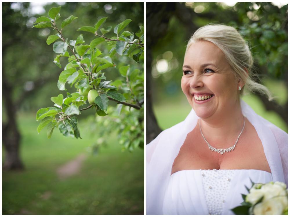 Bruden vid äppelträden vid Herrängens gård söder om Stockholm