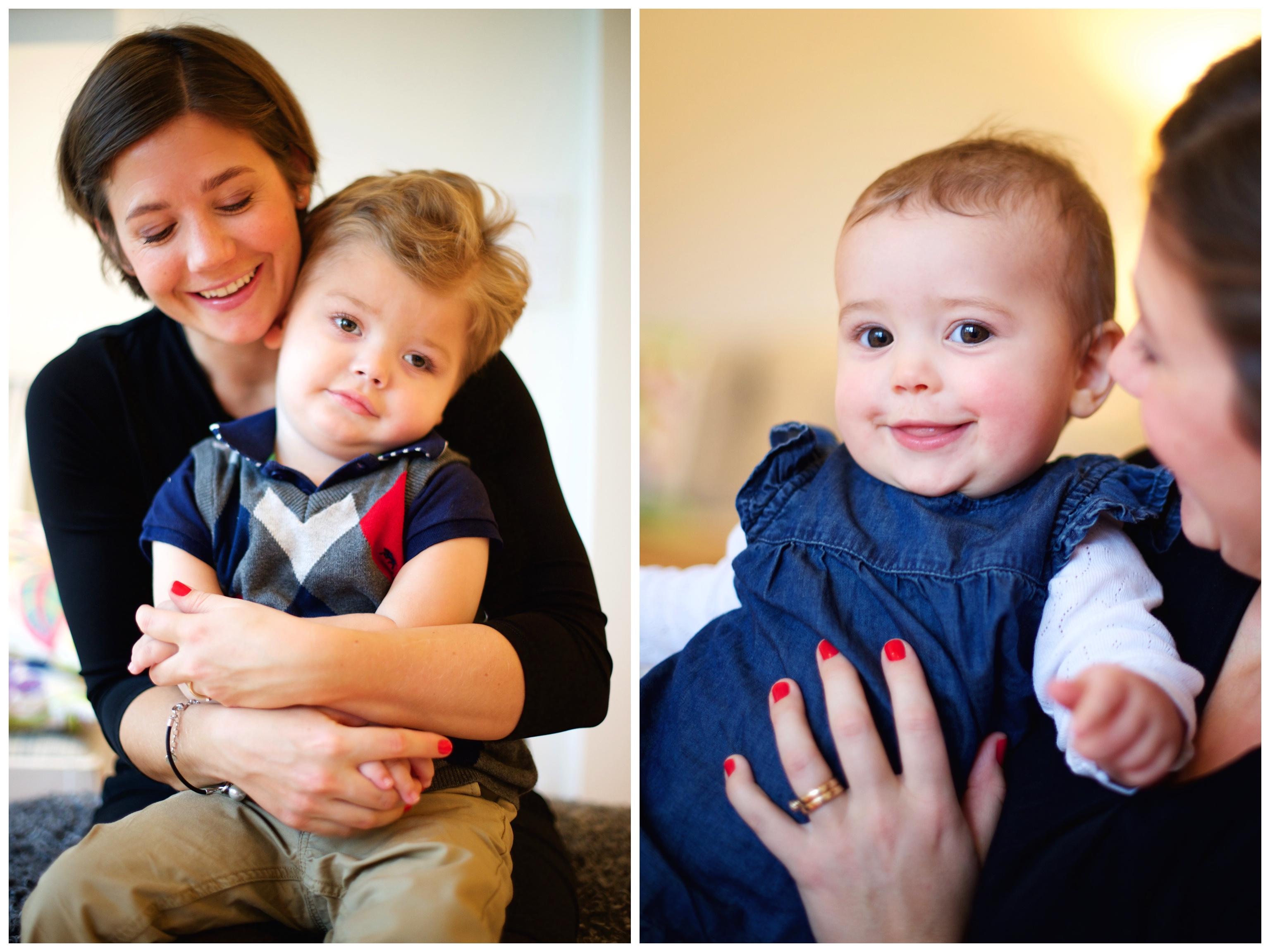 Familjefotograf hemma hos fotografering på Lidingö Erika Aminoff