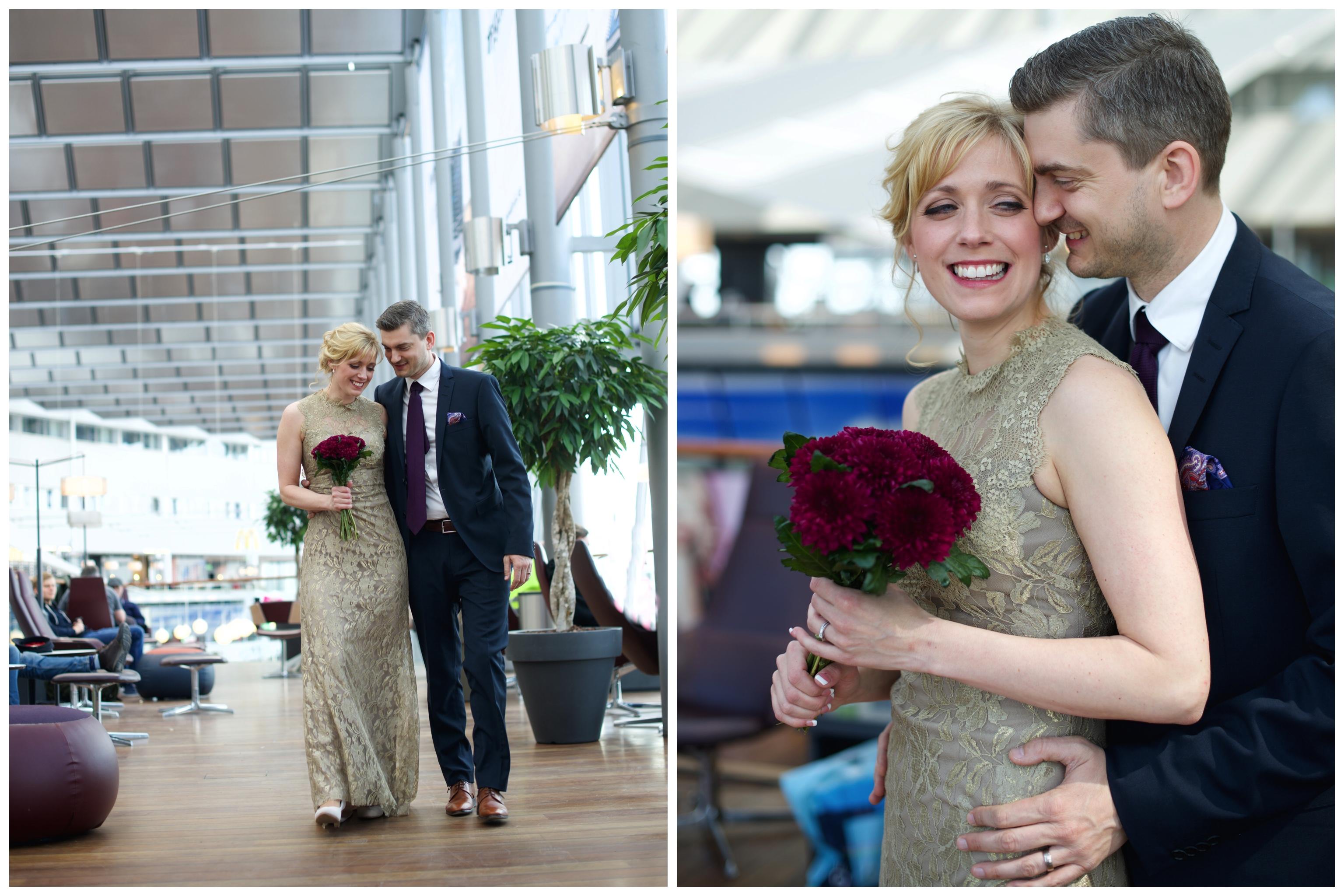 Bröllop på Arlanda i den magiska flygplatsmiljön Bröllopsfotograf Erika Aminoff