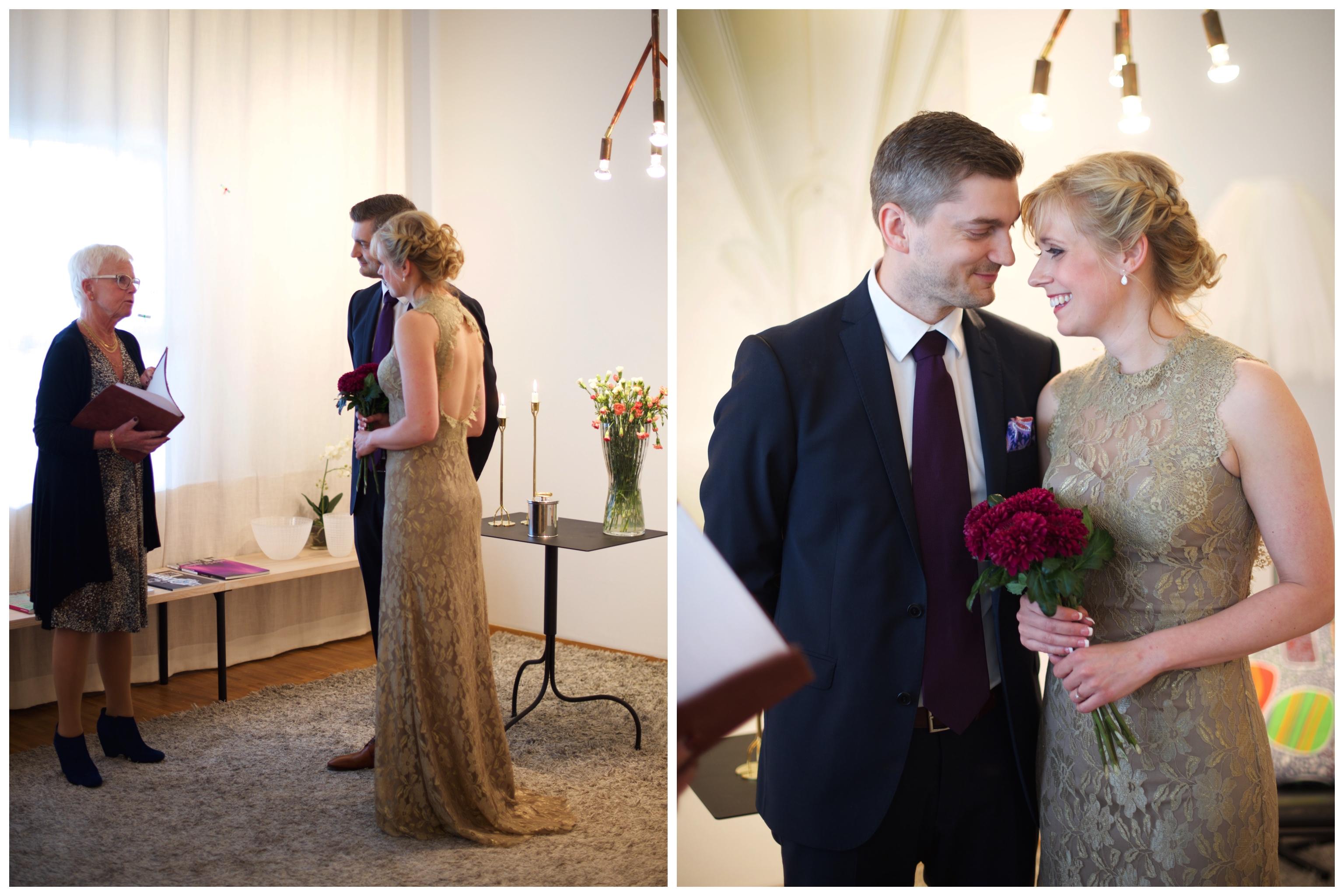 Mysig och personlig vigsel arrangerat genom Arlanda VIP service. fotograf Erika Aminoff