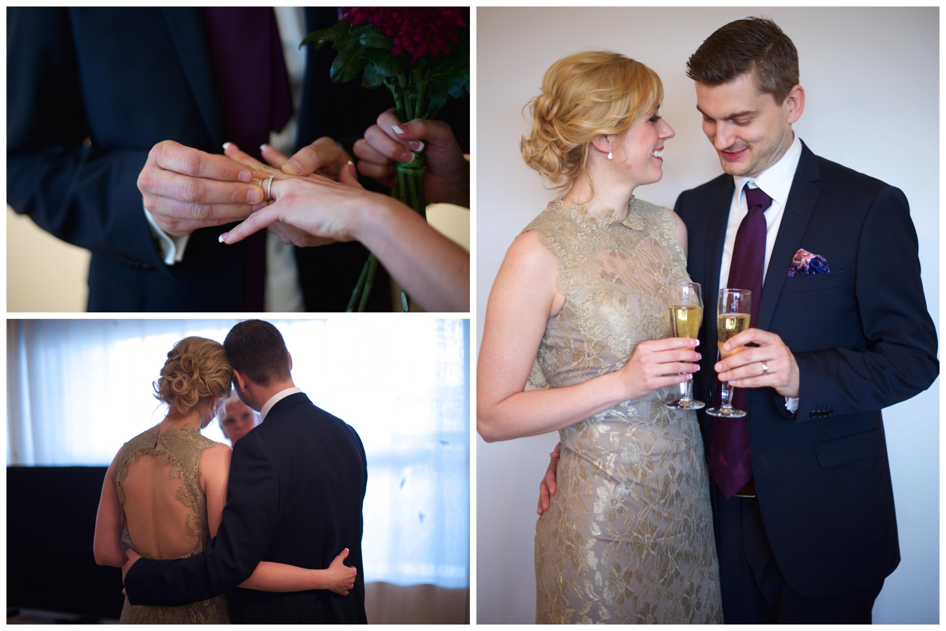 Personligt bröllop på Arlanda. Fotograf Erika Aminoff