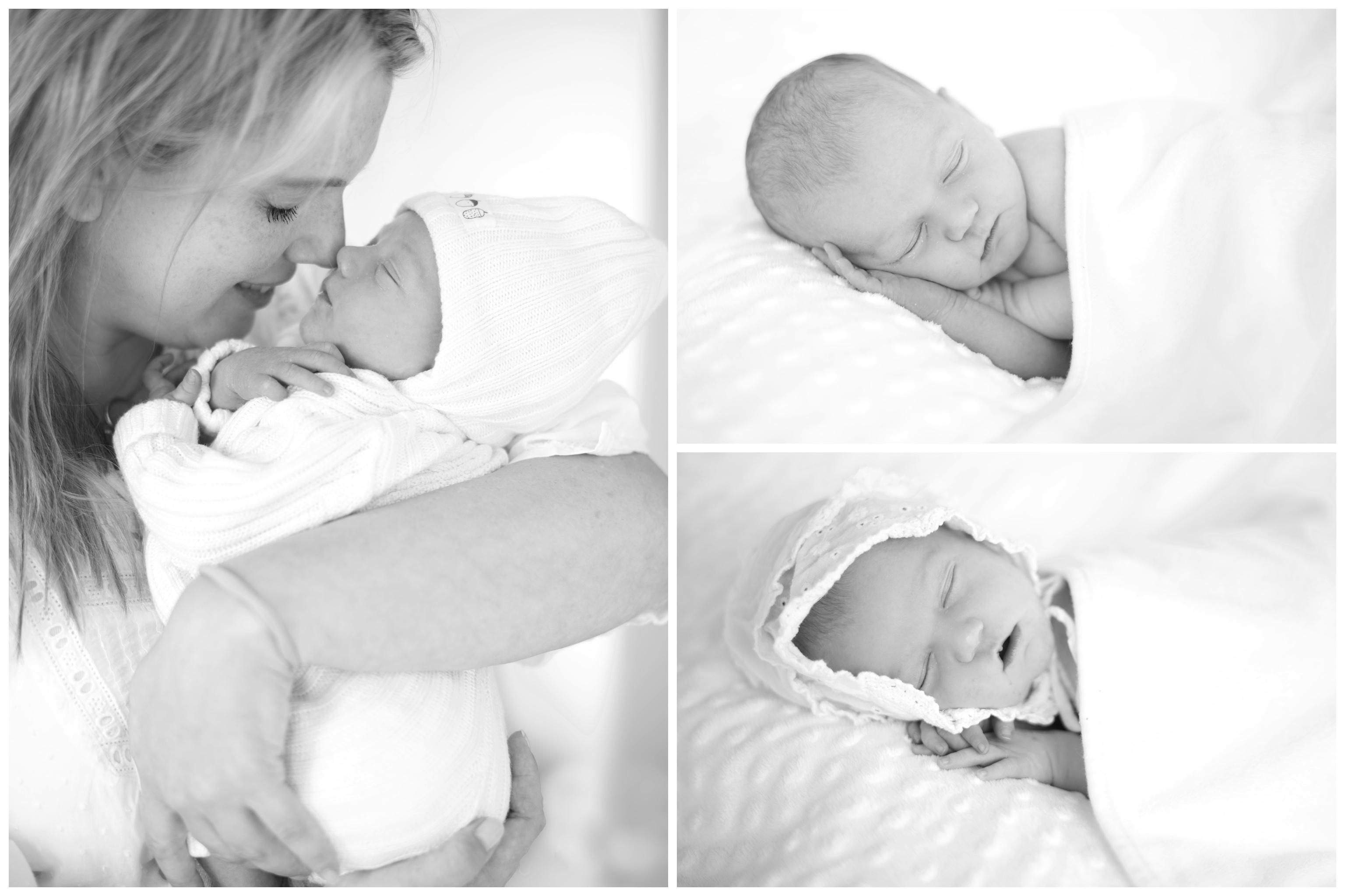 Babyfotografering hemma med familjefotograf Erika Aminoff