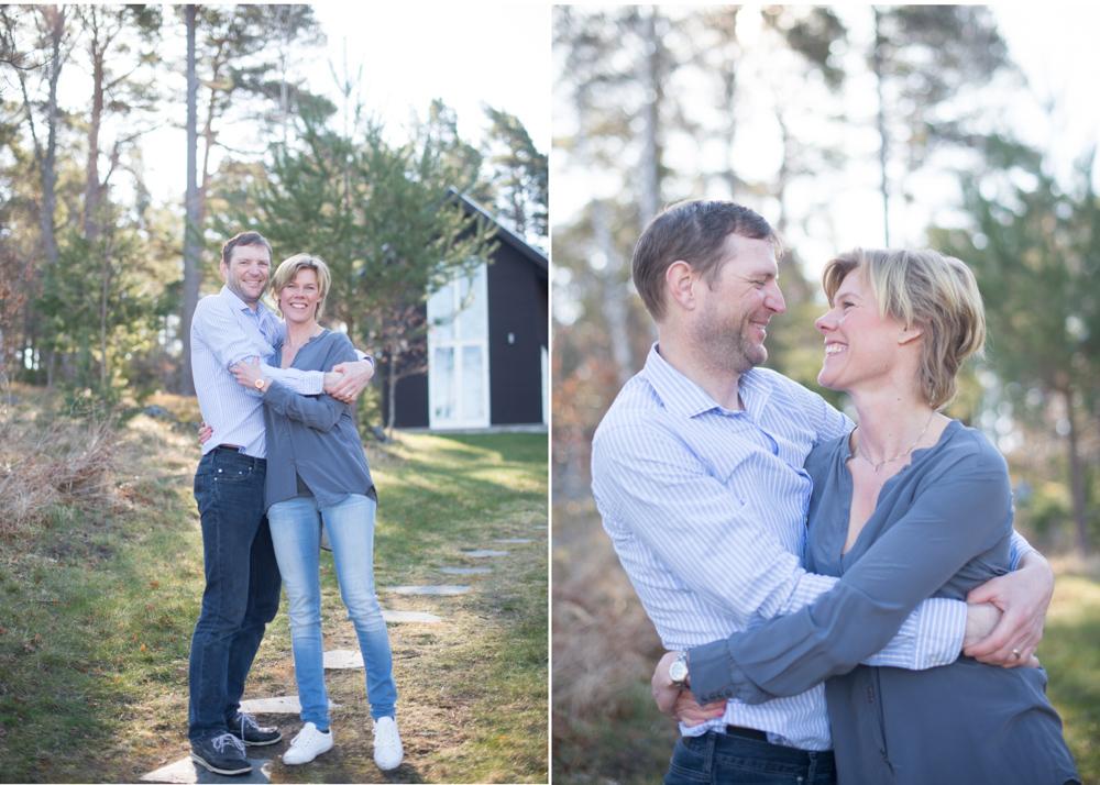 Avslappnad familjefotografering på Smådalarö med fotograf Erika Aminoff