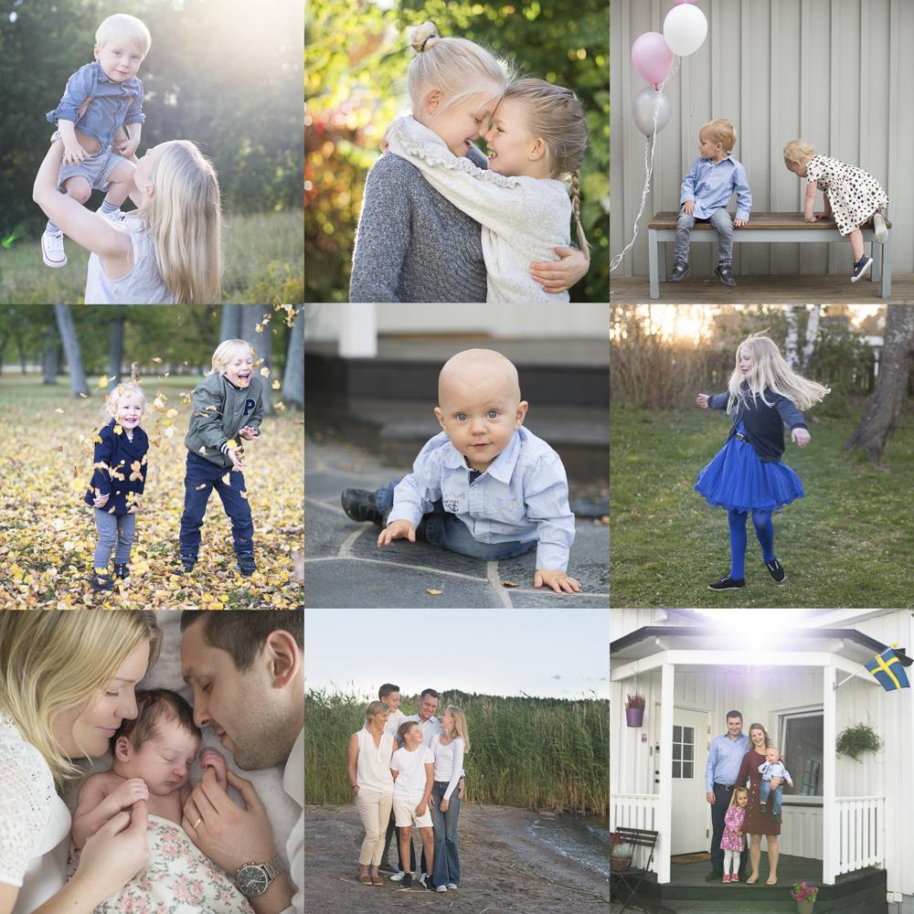 Familjefotograf i Stockholm Utomhusfotografering med Erika Aminoff