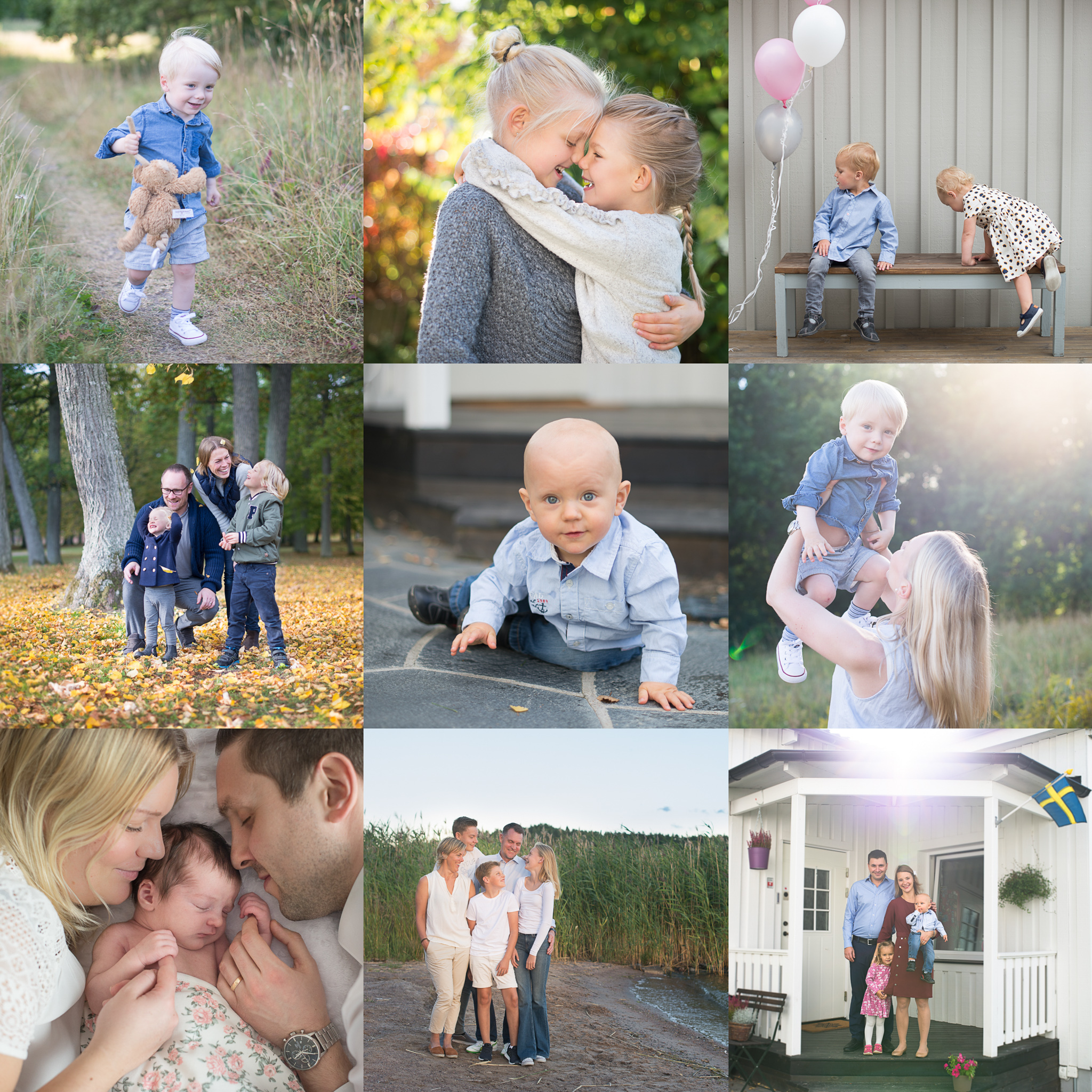 Barn & Familj Fotograf Erika Aminoff fotar barn och familjer utomhus eller hemma hos er