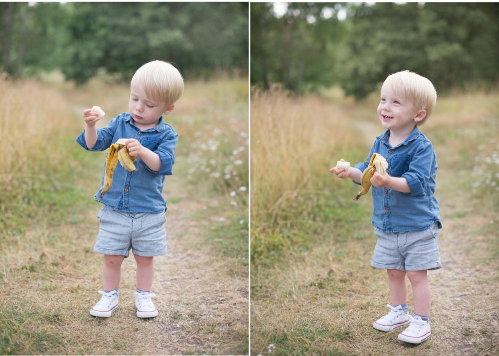 Barnfotograf i Danderyd - fruktpaus i fotograferingen