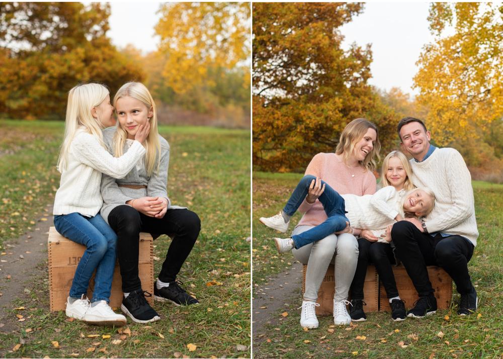 Familjefotografering utomhus Barnfotografering i Stockholm med fotograf Erika Aminoff