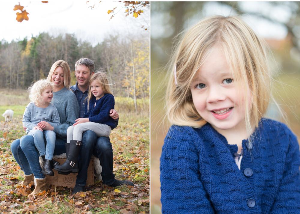 Familjefotografering bland höstlöv