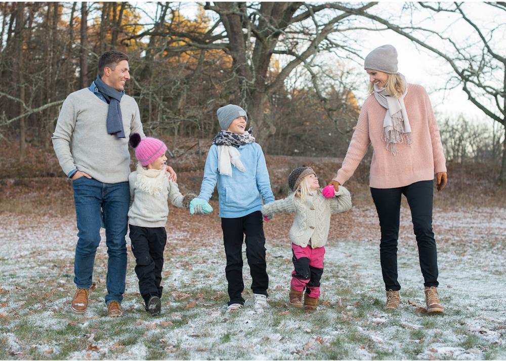 Vintrig familjefotografering på Lidingö Södergarn