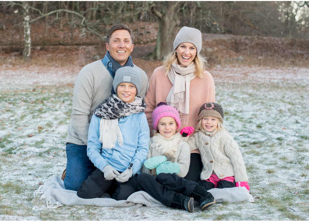 Vintrig familjefotografering på Lidingö