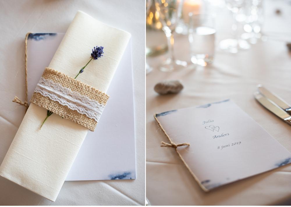 Lidingöbröllop festprogram dukning Bröllopsfotograf Erika Aminoff