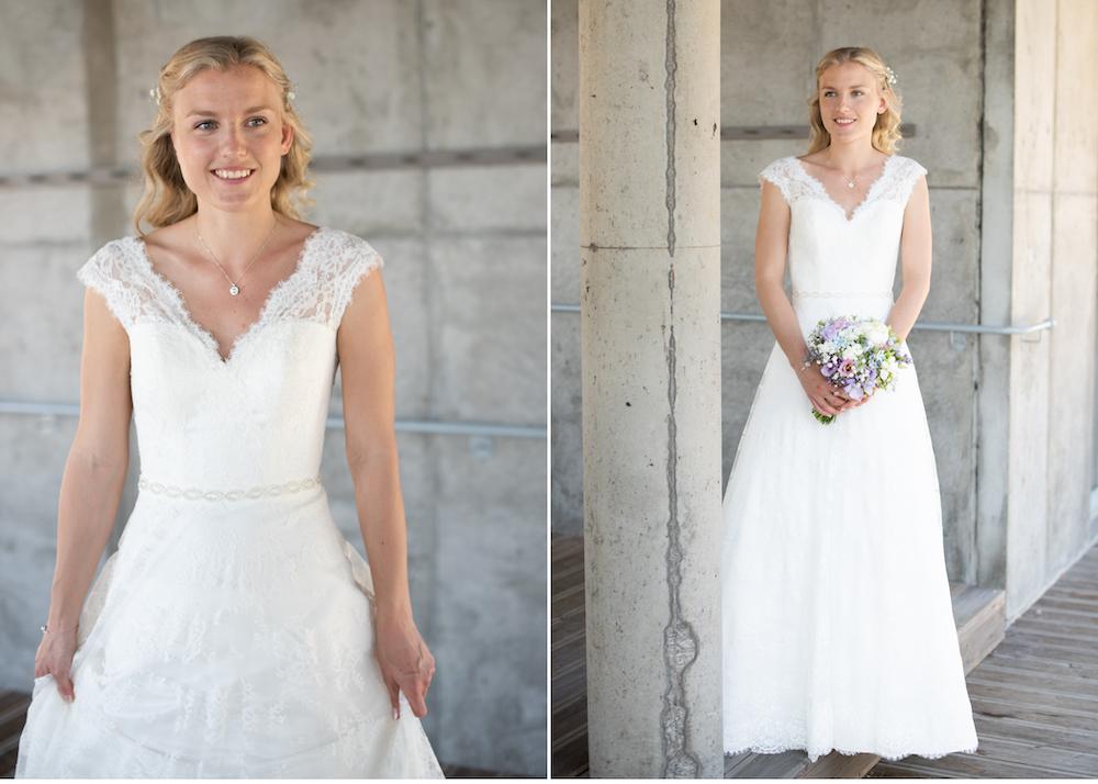 Lidingöbröllop Brud vid Högberga gård
