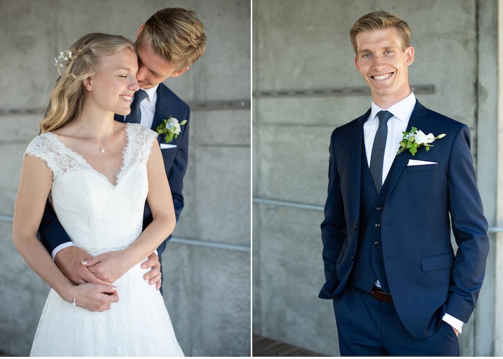 Lidingöbröllop Brudpar Högberga gård