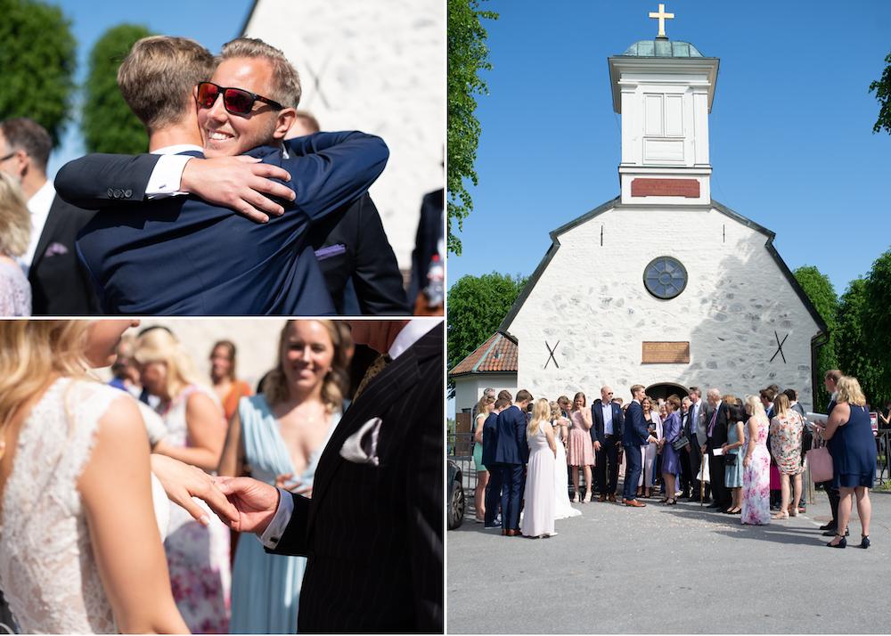 Gratulationer brudpar Lidingö kyrka